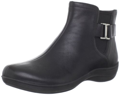 privo Women's City Ride Ankle Boot,Black Leather,6 M US