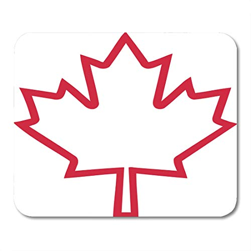 Desk Country Maple (Boszina Mouse Pads America White Canadian Canada Maple Leaf Outline Red Flag Country Mouse Pad for notebooks,Desktop Computers mats 9.5
