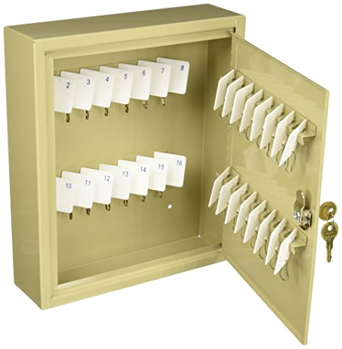 MMF Industries 60-Key Uni-Tag Single-Tag Compact Steel Key Cabinet (2019060A03) (Mmf Industries Key Tags)