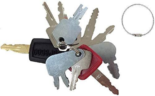 10 Keys Heavy Equipment Construction Key Set/Construction Ignition Keys Sets