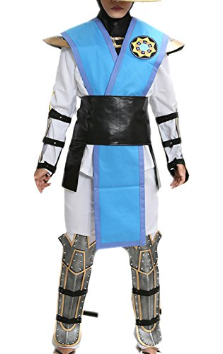 Halloween MKX Raiden Cosplay Costume Outfit Suit for Men XXL