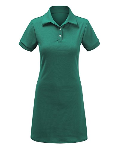 Come Together California WDR1379 Womens Short Sleeve Polo Dress - Made in USA S - Short Sleeve Dress Together