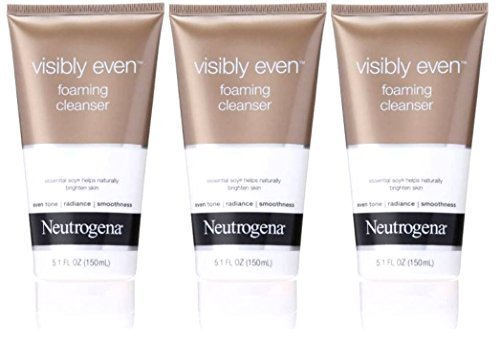 Neutrogena Visibly Even Foaming Cleanser, 5.1 Ounce from Neutrogena (Pack of 3) ()