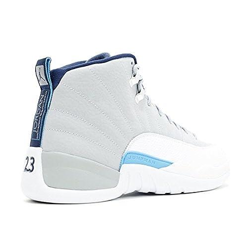 save off 472a6 0fbc2 delicate 2017 Nike AIR JORDAN 12 RETRO UNC Wolf Grey University Blue -White-Midnight