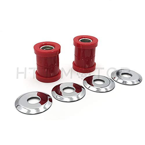HTTMT HAD021- Handlebar Riser Bushings Red Urethane Compatible with Harley Softail Dyna Sportster Chopper