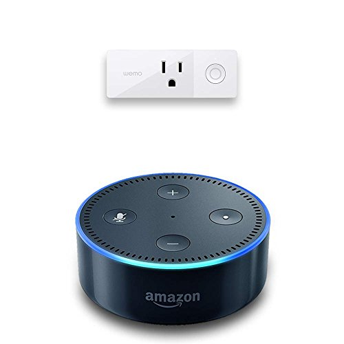 Echo Dot (2nd Generation) - Black + WeMo Mini Smart Plug, Works with Alexa