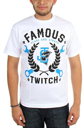 Famous Stars and Straps - Mens Twitch JS Wrenchin T-Shirt, Size: Medium, Color: White]()
