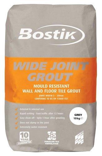 Bostik Floor Grout Wide Joint Grey 10kg: Amazon co uk: DIY
