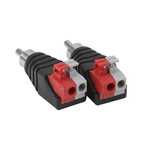 NA 10 stuks luidsprekerkabels voor audio cinchstekker adapter jack stekker