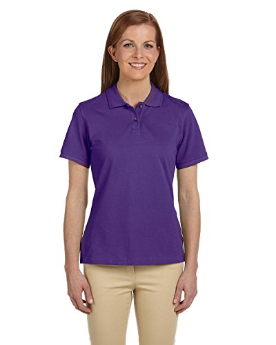Harriton Ladies' 6 oz. Cotton Pique Short-Sleeve Polo>3XL TEAM PURPLE M200W
