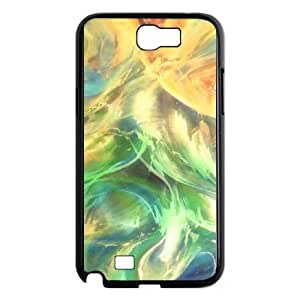 Samsung Galaxy N2 7100 Cell Phone Case Black abstract6 luie