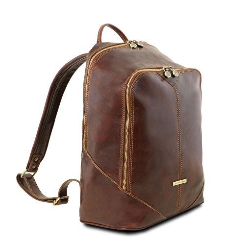 Tuscany Leather Tuscany Mumbai Leather Honey Leather Brown Backpack dxqIn7wd5p