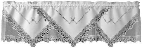 Heritage Lace Prelude 60-Inch Wide by 16-Inch Drop Valance, Ecru