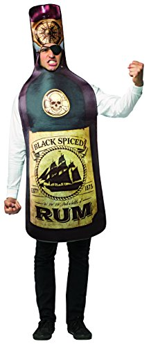 Bottle Of Alcohol Costume (Rum Bottle & Eye Patch Costume)