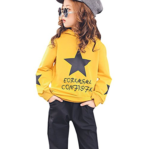 M&A Girls Autumn Casual Hoodie + Pant Set 2 Piece Tracksuit for 5-13T by M&A (Image #8)