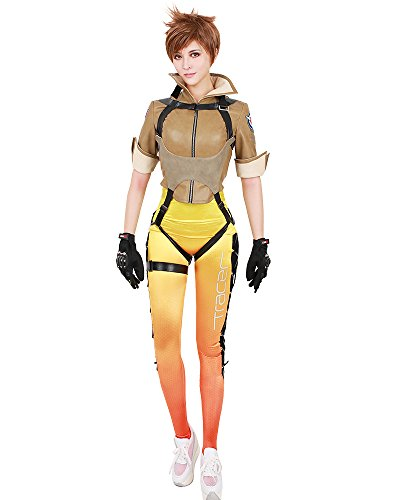 Smooth Sailing Costumes - miccostumes Women's Tracer Lena Oxton Cosplay Costume (WS)