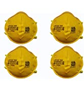 Status SITRA/DRDO/ISI CERTIFIED 3M Unisex Adult's N95 Medical Mask (Pack of 4pcs, Mustard)