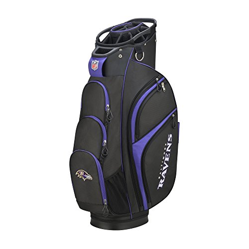 Wilson 2018 NFL Golf Cart Bag, Baltimore Ravens
