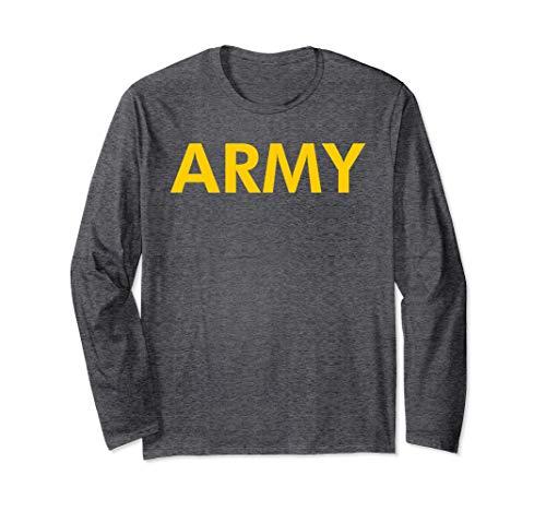 Army Logo Shirt APFU Workout Long Sleeve Tee
