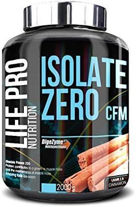 Life Pro Isolate Zero 2Kg | Suplemento Deportivo de Aislado de Proteína de Suero 87%, Facilita anabolismo, Mejora Rendimiento Físico y Recuperación, ...
