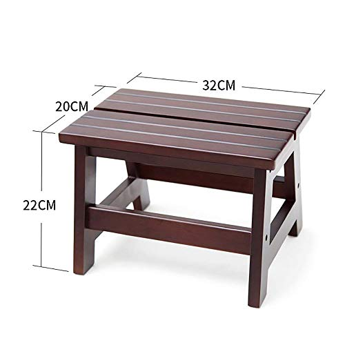 SED Coat Rack-Hanger Floor Bedroom Solid Wood Shoe Bench Stool Living Room Entrance Sofa Children's Stool Low Stool Sturdy Space Saving Storage Rack by SED (Image #4)