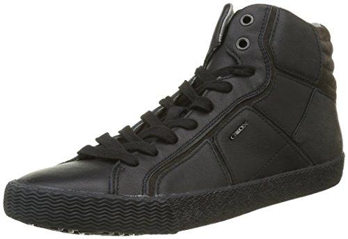 Geox U Smart K, Zapatillas Altas para Hombre Schwarz (BLACKC9999)