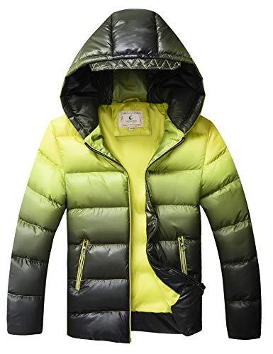 Echinodon Winterjas voor jongens, met capuchon, waterdicht, winddicht, gewatteerde jas voor kinderen, verdikte…