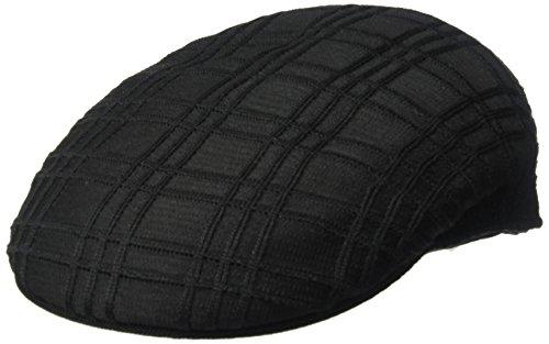 Kangol Men's Rib Check 504 Ivy Cap, Black, L -