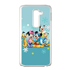 LG G2 Cell Phone Case White Disney Mickey Mouse Minnie Mouse AFT836284