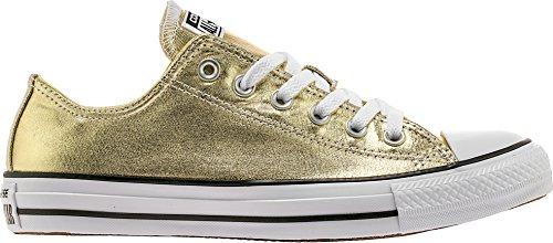 Converse Unisex Chuck Taylor All Star Ox Low Top Classic LIGHT GOLD WHITE BLACK Sneakers - 12 B(M) US Women / 10 D(M) US - Az Outlet