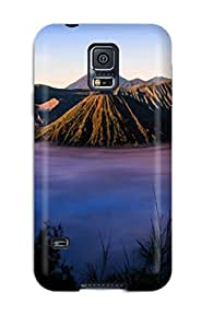 Premium EuwRPAO4048qasYL Case With Scratch-resistant/ Stratovolcano Bromo Case Cover For Galaxy S5