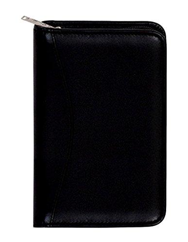 Scully Leather Zip Pocket Agenda Soft Plonge 5008Z Organizer,Black