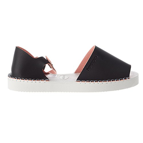 Black pink Havaianas Womens Fashion Flatform Espadrille RWAZnAIr