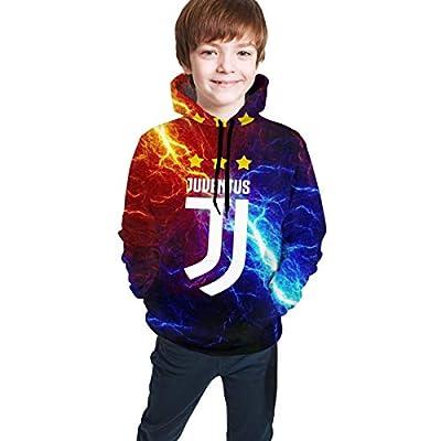 Salomstley Youth Juventus FC Hoodie Sweatshirts for Kids 3D Print