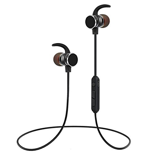 Wireless Bluetooth Headphones, Ucio Sports Noise Cancelling in-Ear Sweatproof Earphones Built in Mic, IPX5 Waterproof Magnetic Wireless Earbuds for iPhone Xs XR 8 7 6 Samsung Android