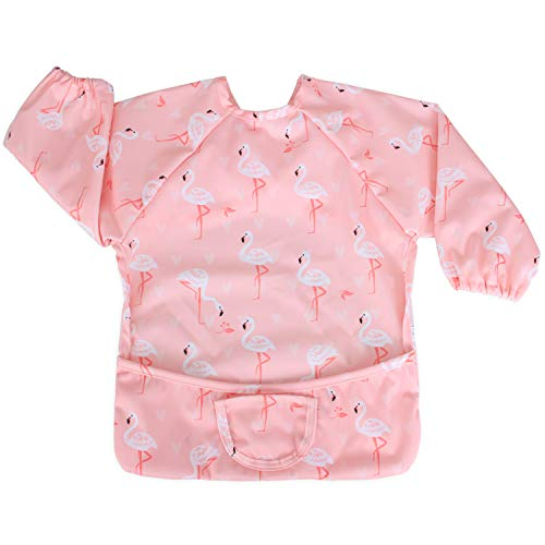 Luxja Baby Waterproof Sleeved Bib