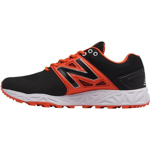 New Balance Hommes 3000v3 Baseball Gazon Chaussures Noir Orange