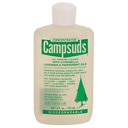 Sierra Dawn Campsuds with Citronella, Lavender, Peppermint Oil Deters Insects, Insect Deterrent, Outdoor Soap Biodegradable Environmentally Safe All Purpose Cleaner, Camping Hiking Backpacking Travel