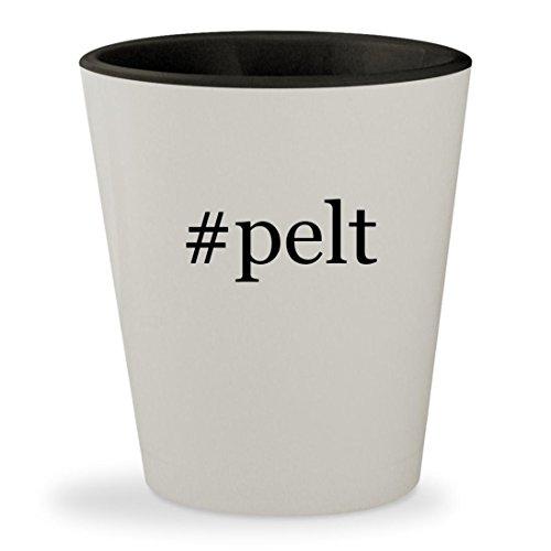#pelt - Hashtag White Outer & Black Inner Ceramic 1.5oz Shot (Black Dog Skunk Costume)