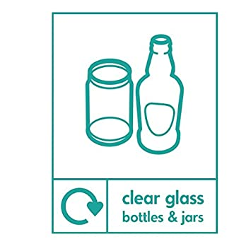Claro frascos de vidrio botellas cartucho reciclado señal 300 mm x 400 mm plástico rígido