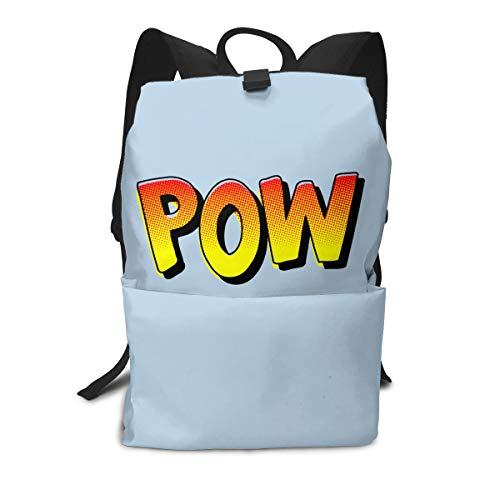 Ladies Pow Spurs - Travel Backpack Business Daypack School Bag POW Large Compartment College Computer Bag Casual Rucksack For Women Men Hiking Camping Outdoor