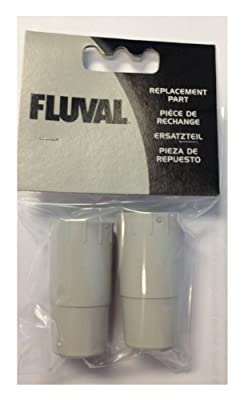Fluval Rubber Adapter for Ribbed Hosing, 304, 305, 404, 405 (2 Pieces) by Fluval