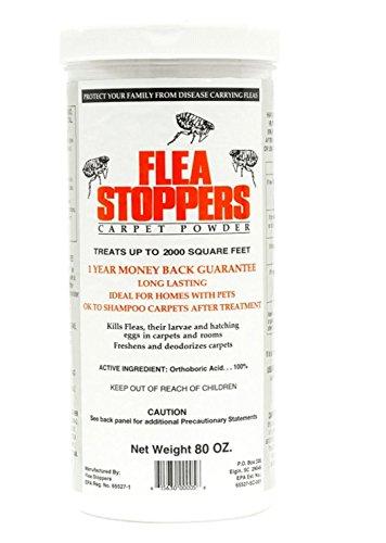 Flea Stoppers Carpet Powder Kills Flea Larvae And Adult Fleas In 3-5 Days 5 ()
