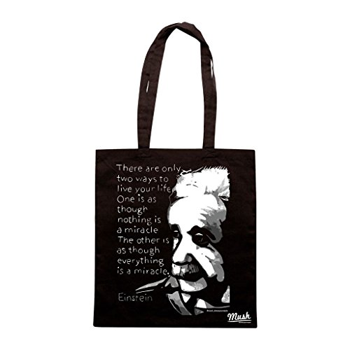 Borsa Albert Einstein Miracolo - Nera - Famosi by Mush Dress Your Style