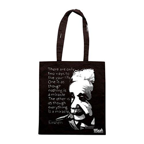 Borsa Albert Einstein Miracolo - Nera - Famosi by Mush Dress Your Style