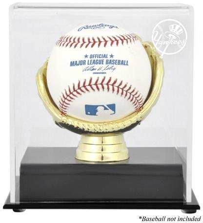 New York Yankees Logo Gold Glove Baseball Logo Display (Baseball Display Case Gold Glove)