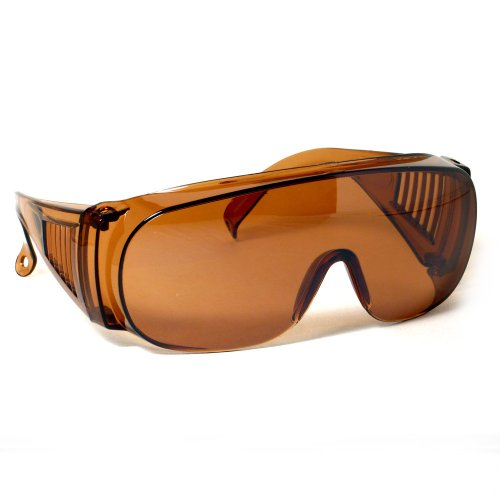 Rodeo M3 Fit Over Prescription Rx No Blind-spot Driver Day & Night Wrap Around Sun Glasses (Copper - Wrap Childrens Sunglasses Around