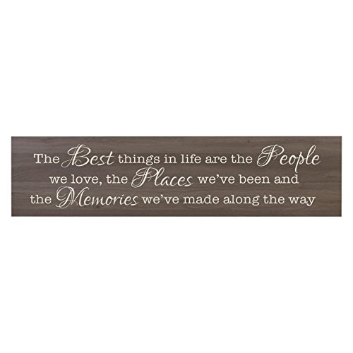 The Best Things in Life are The People, Decorative Wall Art Decor Sign for Living Room, Entryway, Kitchen, Bedroom,Office, Wedding Idea (Salt Oak)