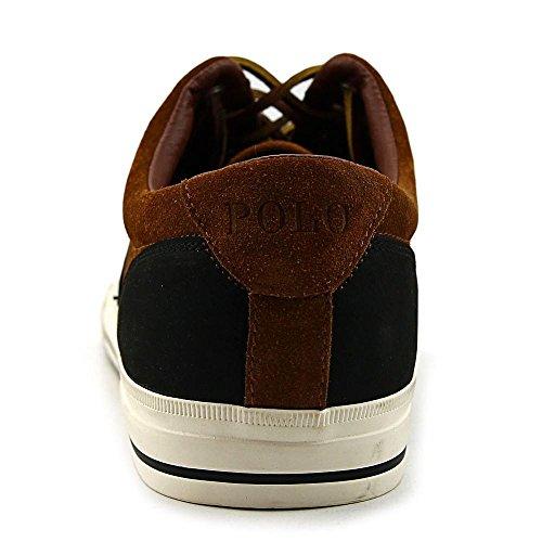 Polo Ralph Lauren Vaughn silla zapatilla de deporte de moda Saddl-Black