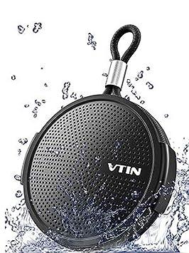 Vtin Q1 Altavoz Bluetooth, Altavoz Impermeable de 8W, Altavoz portátil con Bluetooth 10H Tiempo de reproducción, Micrófono Incorporado, Soporte de ...